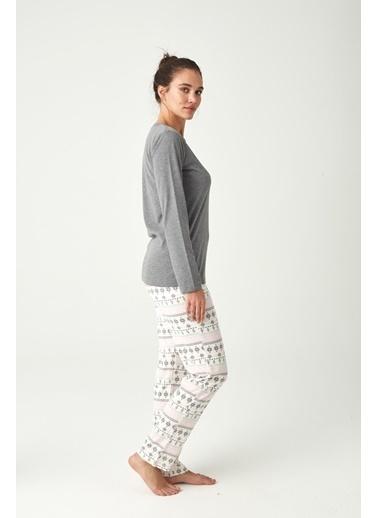 U.S. Polo Assn. Kadın Pijama Takımı Antrasit